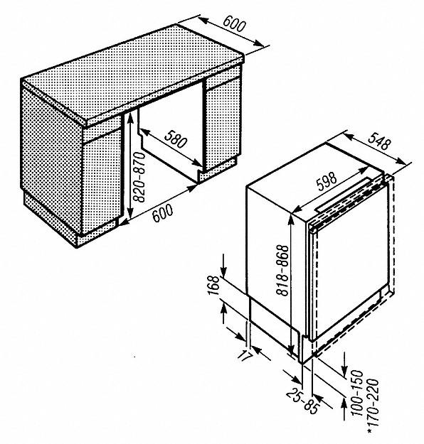 Rozmerové nákresy-pre lepšiu prehľadnosť vďaka veľkým zásuvkám a analógovej indikácii teploty.-20000009725