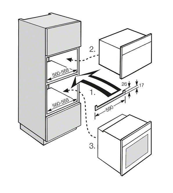 Rozmerové nákresy-Na zakrytie hrany nábytku pri rôznych kombináciách prístrojov.-20000046392