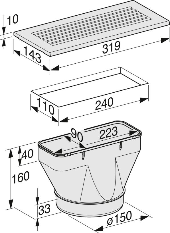 Rozmerové nákresy-Na prestavbu zabud. panel./ ploš. odsávačov s odťahom vzduchu na cir. prevádzku.-20000056721