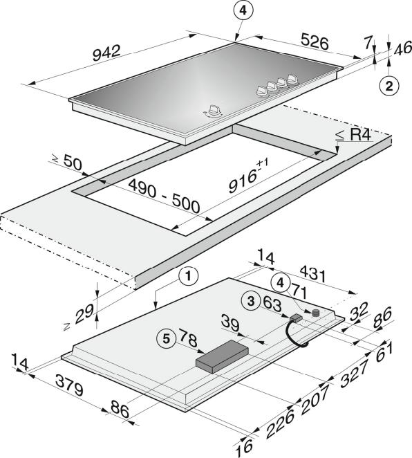 Rozmerové nákresy-s elektronickými funkciami pre tú najvyššiu bezpečnosť a komfort pri obsluhe.-20000085158