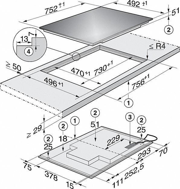 Rozmerové nákresy-s TempControl pre dokonalé výsledky opekania.-20000114309