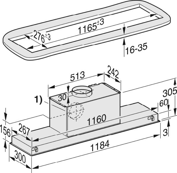 Rozmerové nákresy-s úsporným LED osvetlením a tlačidlami pre komfortné ovládanie.-20000115536