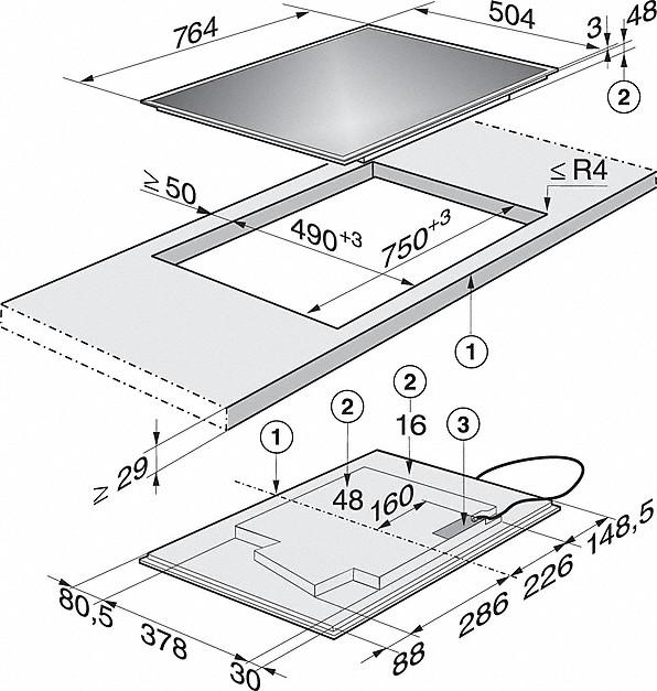 Rozmerové nákresy-s TempControl pre dokonalé výsledky opekania.-20000118755