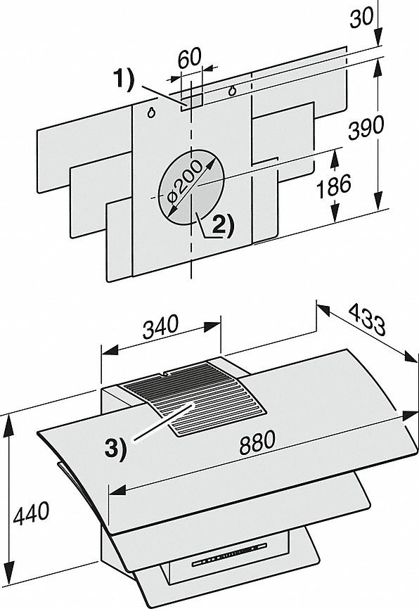 Rozmerové nákresy-s úsporným LED osvetlením a tlačidlami pre komfortné ovládanie.-20000135960