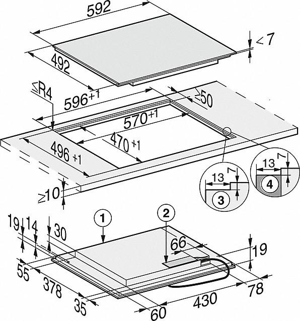 Rozmerové nákresy-so zónou varenia PowerFlex pre maximálnu výkonnosť.-20000137202