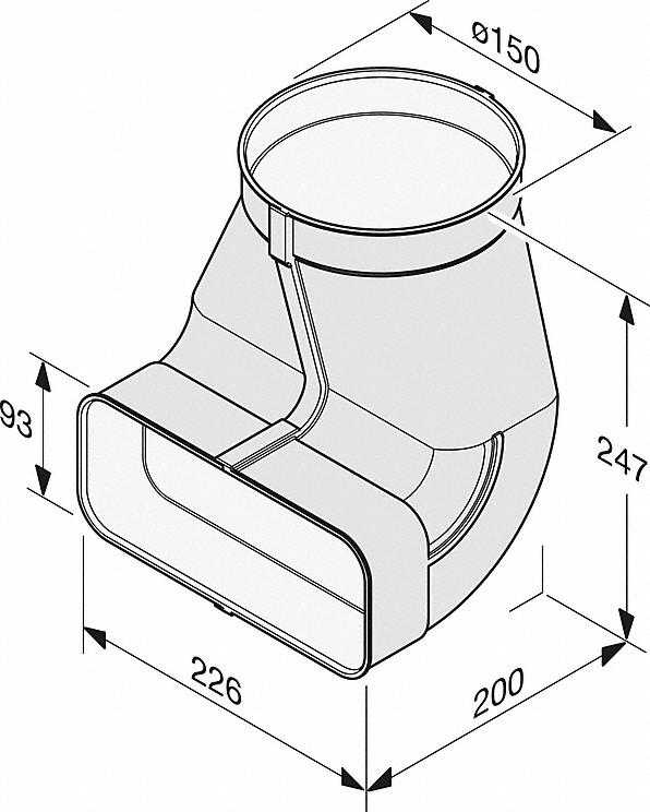 Rozmerové nákresy-na efektívne aindividuálne vedenie vzduchu.-20000139376