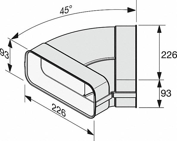 Rozmerové nákresy-na efektívne aindividuálne vedenie vzduchu.-20000139384