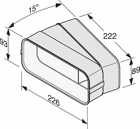 Rozmerové nákresy-na efektívne aindividuálne vedenie vzduchu.-20000139385