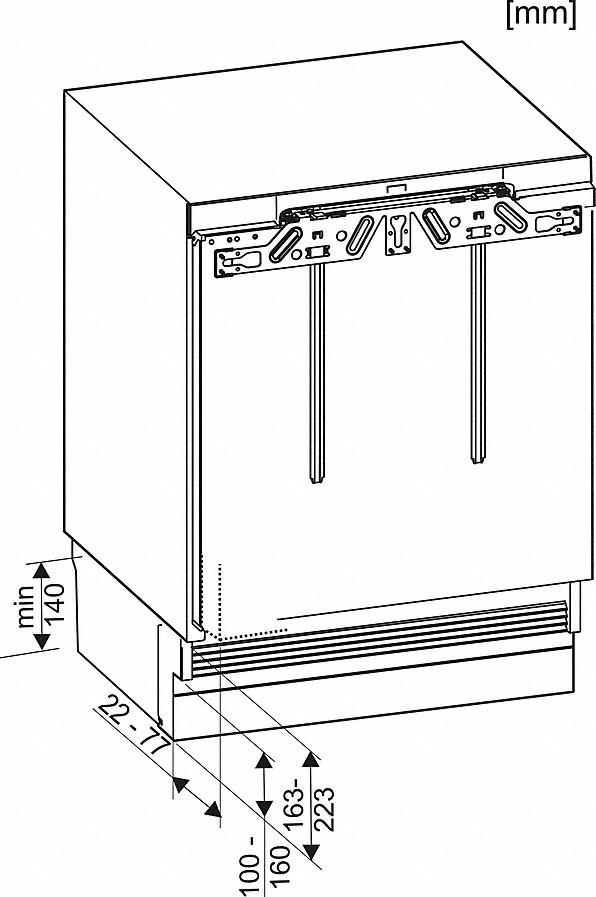 Rozmerové nákresy-s funkciou ComfortFrost pre pohodlné mrazenie v kompaktnom formáte.-20000141231