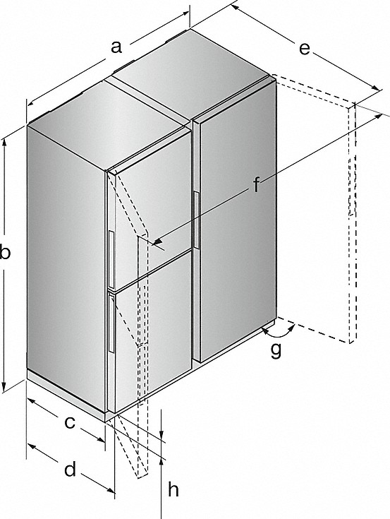Rozmerové nákresy-s dvoma zónami na temperovanie vína a IceMaker pre max. pôžitok a pohodlie.-20000141278