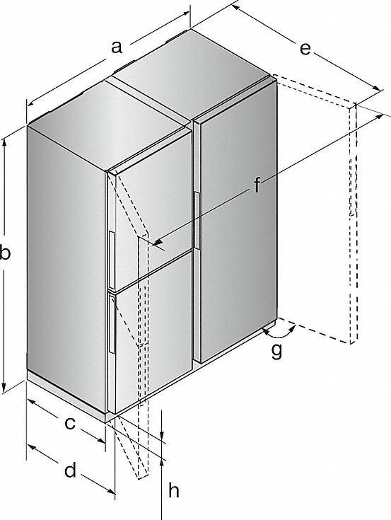 Rozmerové nákresy-v edícii Blackboard s PerfectFresh Pro a FlexiLight.-20000141298