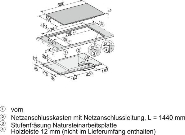 Rozmerové nákresy-so zónou varenia PowerFlex pre maximálnu výkonnosť.-20000142801