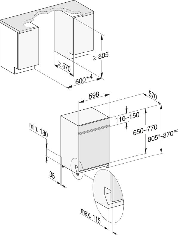 Rozmerové nákresy-s 3DMultiFlex zásuvkou a44dB(A) pre maximálny komfort.-20000148090