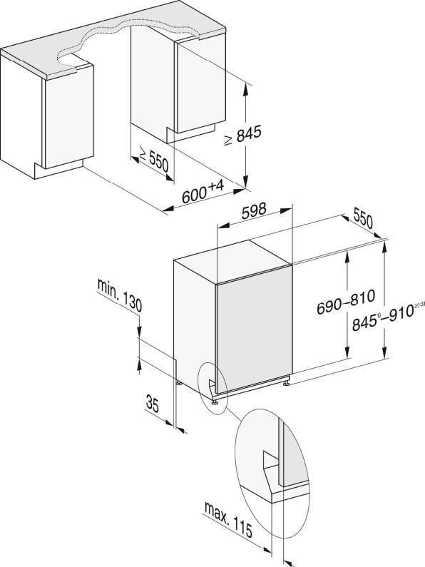 Rozmerové nákresy-s 3DMultiFlex zásuvkou a44dB(A) pre maximálny komfort.-20000148096