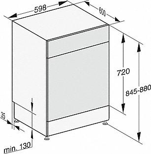 Rozmerové nákresy-pre optimálne výsledky sušenia vďaka systému sušenia AutoOpen.-20000148097