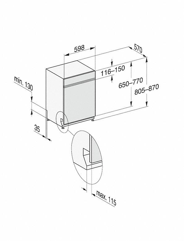 Rozmerové nákresy-s 3DMultiFlex zásuvkou a44dB(A) pre maximálny komfort.-20000148113
