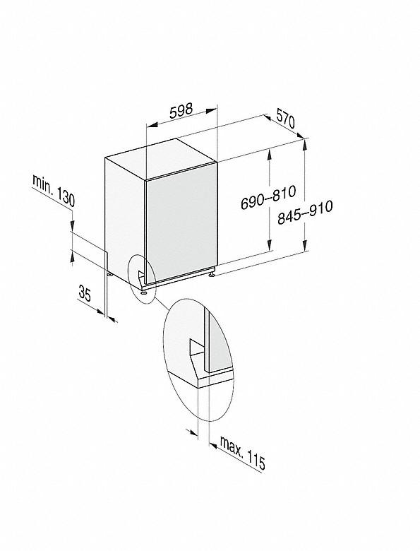 Rozmerové nákresy-s 3DMultiFlex zásuvkou a44dB(A) pre maximálny komfort.-20000148119