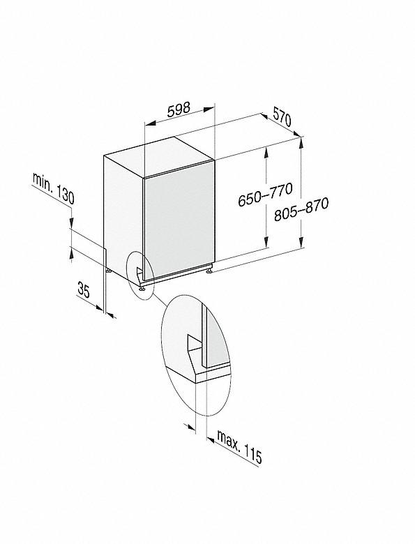 Rozmerové nákresy-s 3DMultiFlex zásuvkou a44dB(A) pre maximálny komfort.-20000148120